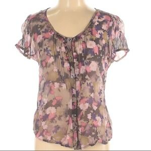 Urban outfitters Kimchi blue floral silk blouse